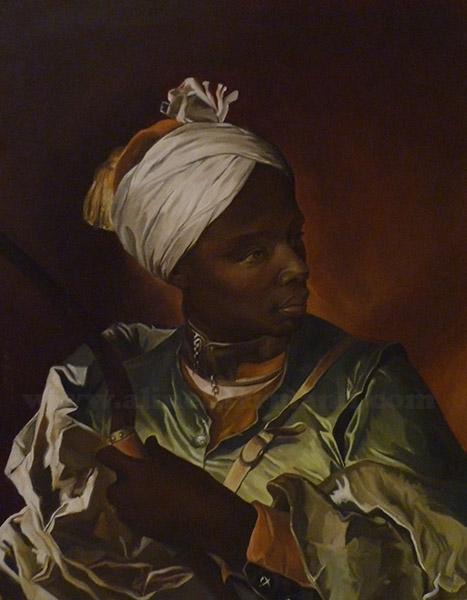 """""""Jeune Nègre Tenant un Arc"""" (oil painting)"""