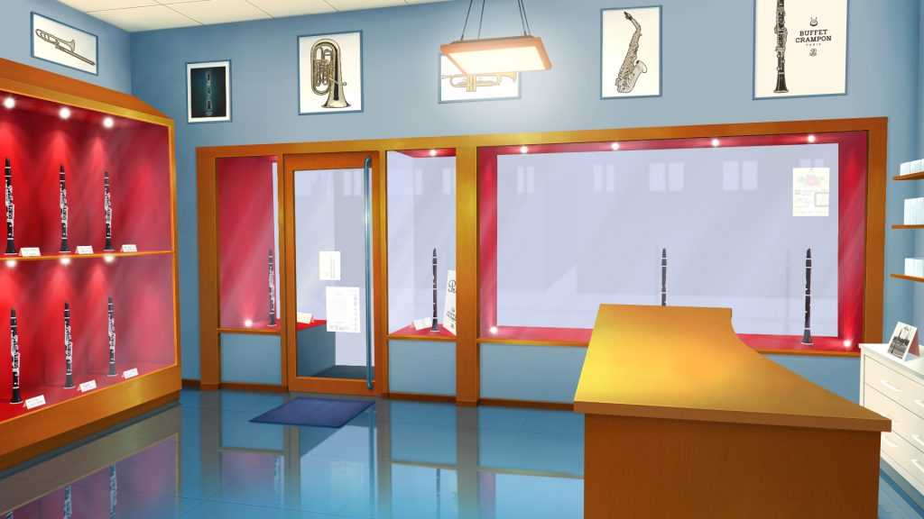 """Music Store (movie background, full movie available on the """"Animations"""" menu)"""