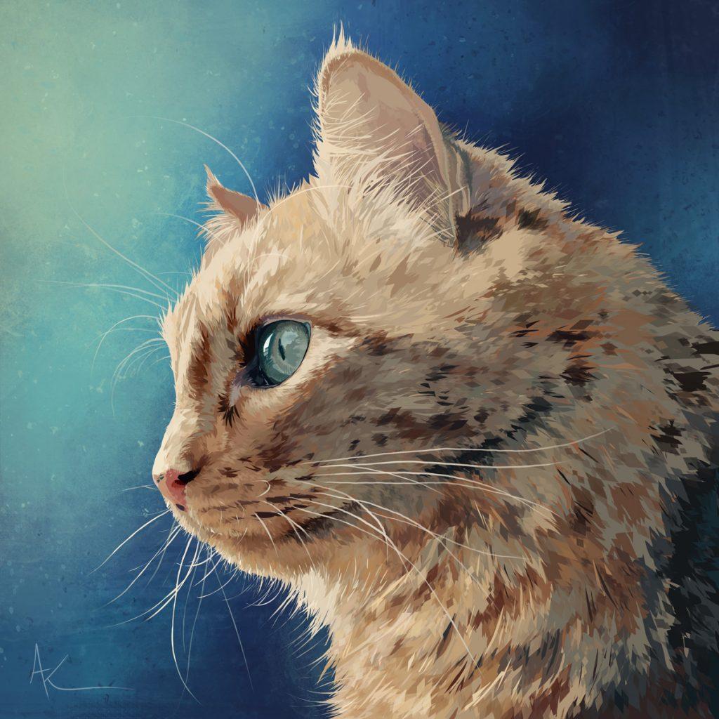 Léon • red cat • digital