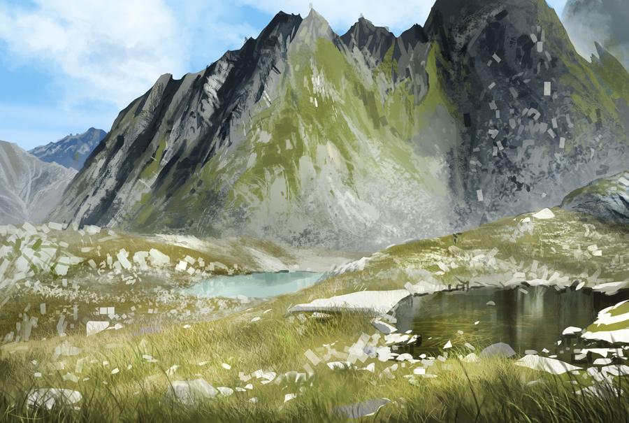 Speedpainting - Austria landscape
