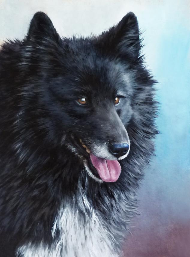 Simba • dog • peinture à l'huile